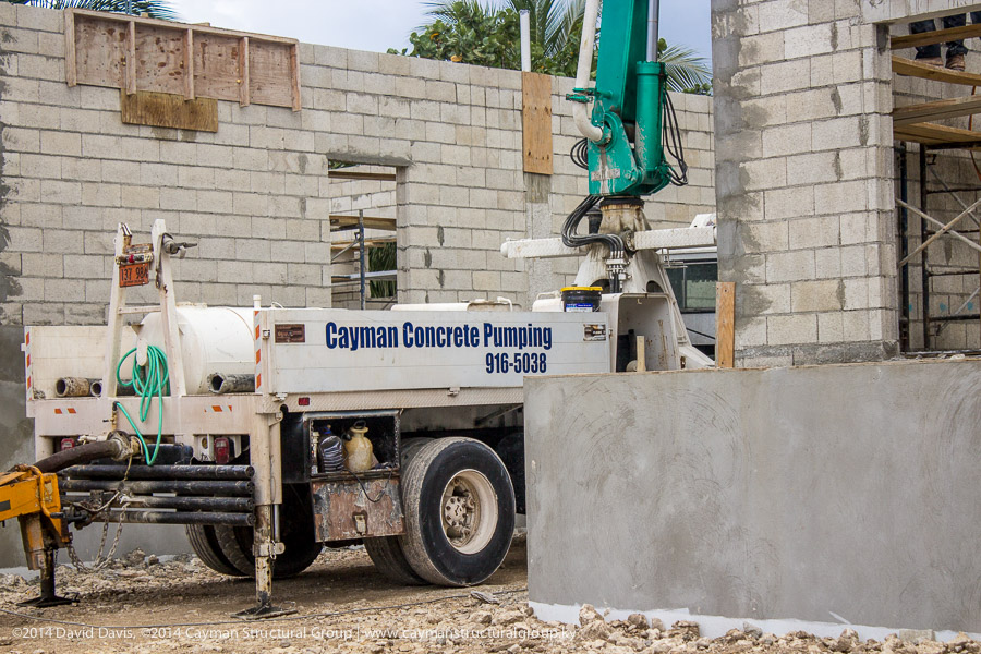 Concrete pumping and construction contracting services on the Cayman Islands.
