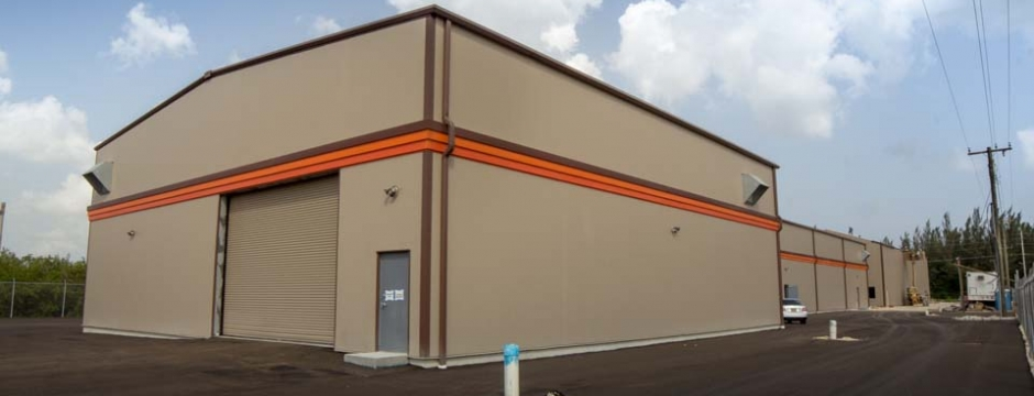 Commercial warehouse design, development, and construction services on the Cayman Islands.