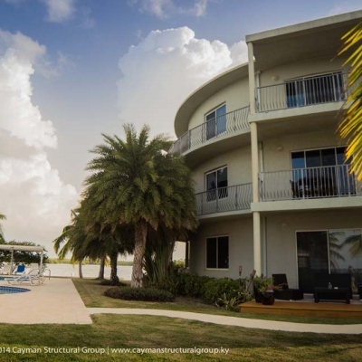 Luxurious condominium development and construction contracting services on the Cayman Islands.
