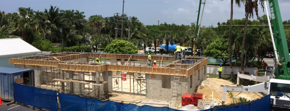 Shell Construction on site at Coral Stone Club