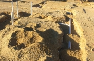 Plumbing is laid before the concrete foundation is poured. This luxury custom home will feature nearly 20,000 square feet and will be one of the largest in the Vista del Mar community.