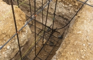 Rebar is placed before the concrete foundation is poured. Cayman Structural Group is the structural contractor for this custom luxury home in Vista del Mar.