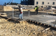 Workers continue to place rebar supports before the concrete foundation is poured. With nearly 20,000 square feet, this luxury home will be one of the biggest in the Vista del Mar community.
