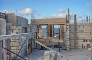 Once complete, this luxurious custom home will feature breathtaking views of the surrounding ocean.