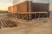 Concrete will cover the rebar structure of this 6 bedroom, 6 bathroom luxury custom home in the Cayman Islands.