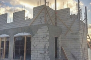 The guest home under construction. Cayman Structural Group is the structural contractor for this project.