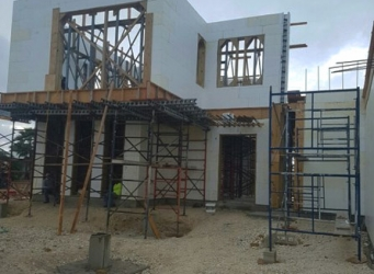 This luxury custom home is being by general contractor and project manager Cayman Structural Group.