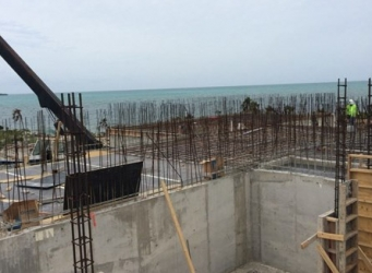 The sprawling 20,000 square foot luxury home is beginning to take shape.