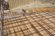 Rebar where structure is being built.