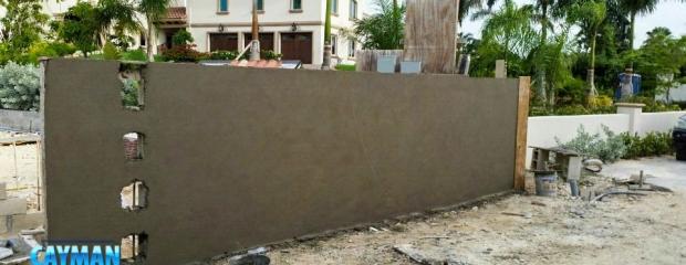 Plastering to entrance gateway walls.