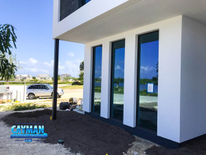 View of the three windows in this Grand Cayman ICF Home from outside.
