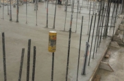 The crew pours concrete for a new bit of Cayman island real estate.