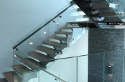 Unique glass panel stairwell